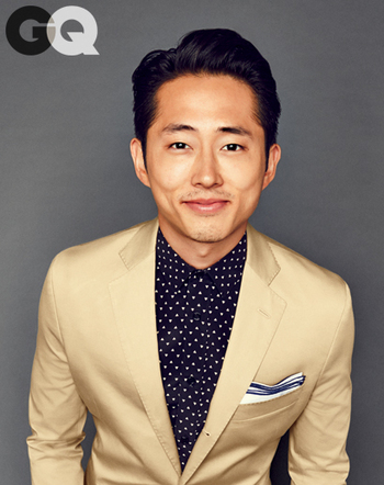 Steven Yeun Shows How to Wear a Suit Without a Tie