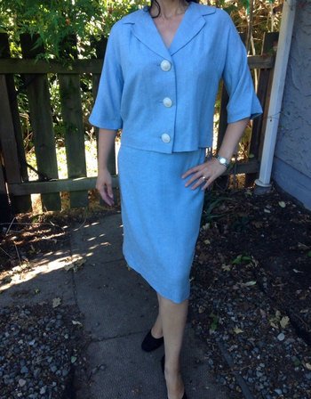 James Chambers Vintage  60s skirt suit Mad Men Jackie O
