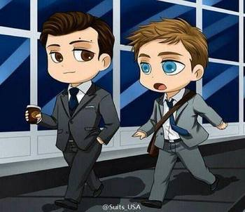 #suits Harvey Specter and Mike Ross
