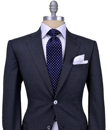 Dark Grey with Ivory Stripe Suit