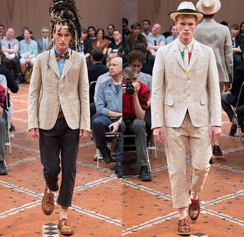 Junya Watanabe 2016 Spring Summer Mens Runway Looks | Denim Jeans Fashion Week Runway Catwalks, Fashion Shows, Season Collections Lookbooks > Fashion Forward Curation