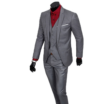 (Jacket+Pants)2015 New Arrival Formal Wedding Men Suits Casual Brand Slim Masculino Business Blazer Suit M-XXL
