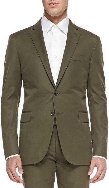 $1,495, Ralph Lauren Black Label Nigel Cotton Jacket Olive