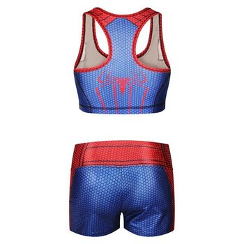 Stylish U Neck Spider-Man Tank Top and Shorts Suit For Women