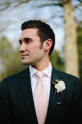 Deck your man with a blush tie to bring it all together #cedarwoodweddings Pink Tie Affair :: Daniell