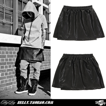 2014 New Fashion Brand Bermudas Masculina Style Men's Running Clothing High Street Male Leather Skirt Culottes Leather Pants-inCasual Pants from Men's Clothing & Accessories on Aliexpress.com | Alibaba Group