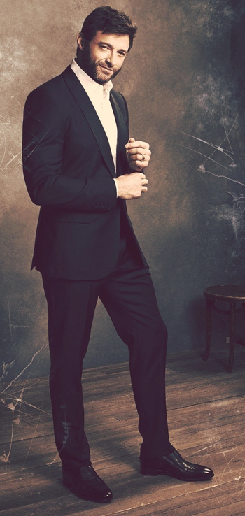 ❤ Hugh Jackman...looking so hot in a suit...while at the same time looking like Wolverine with that s