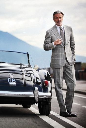 One day I aspire to have hair that perfect and a suit that unrumpled after a country drive in a small