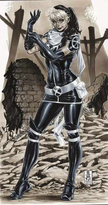 Mark Brooks Rogue Commission X-Men, in DougPeters's Paper Commissions and Published Art Comic Art Ga