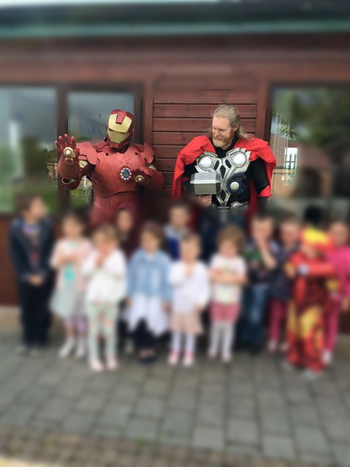 [Self] I made an Iron man suit and I attend kids parties for an excuse to wear it. • /r/cosplay