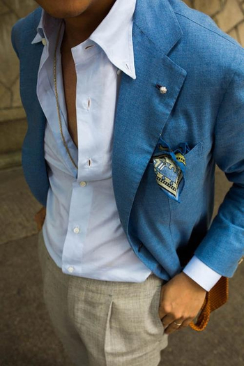 Love this blue jacket for summer, so