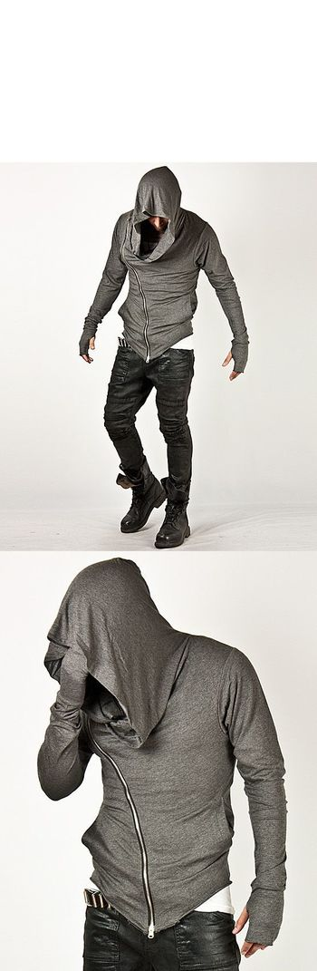 Tops - Striking Unbeatable Style Arm Warmer Diagonal Zip-up Hoodie - 15 for only 46.00 !!!