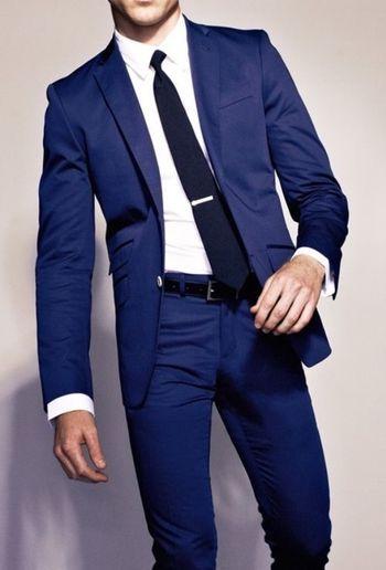 Navy Blue Slim Suit fashion navy style suit tie mens fashion men's fashion fashion and style navy suit