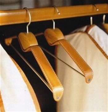 Keep suits and coats in tip top shape with leather hangers.