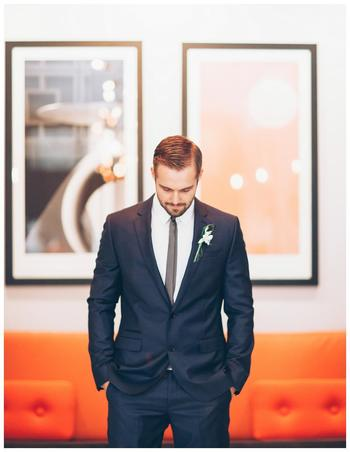Wedding Inspiration – A Glamorous Modern Palette of Orange and Gray | Weddings Unveiled  |  Inspiring Style for Southern Weddings