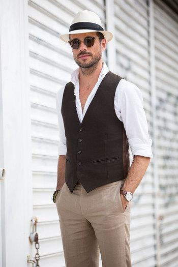 Tailored Waistcoat & Linen Pants - He Spoke Style