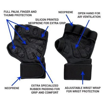 Amazon.com : New Ventilated Weight Lifting Gloves with Built-In Wrist Wraps, Full Palm Protection, and Extra Grip. Great for Pull Ups, Cross Training, Crossfit, and Weight lifting. Suits Both Men And Women : Sports & Outdoors