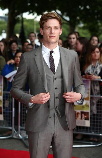 james norton | James Norton Wearing Burberry Tailoring Suit At UK Movie Premiere