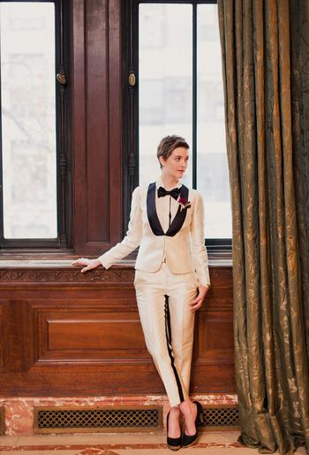 This women's tuxedo is AMAZING