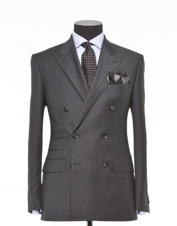 Tailored 2-Piece Suit - Fabric 4006 Stripes Grey