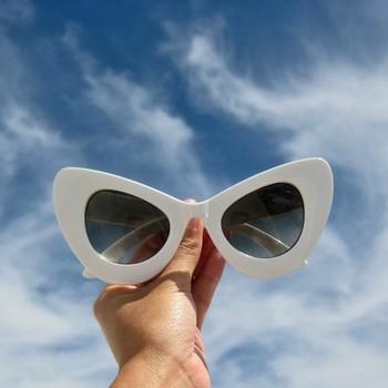 C.phraph: Retro Mod Super Trendy Womens Fashion Cat Eye Sunglasses 9233
