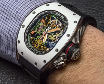 Richard Mille RM 50-02 ACJ Tourbillon Split Seconds Chronograph Watch For Airbus Corporate Jets Hands-On | aBlogtoWatch