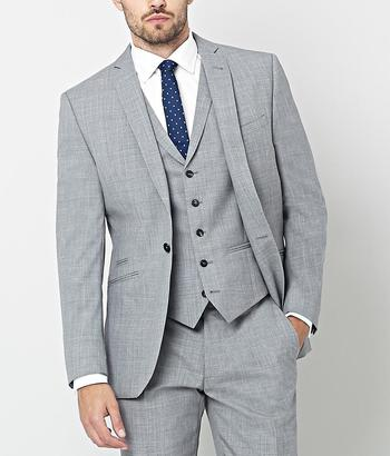 AR RED Nick Hart 3 Piece Light Grey Suit   Men's Suits