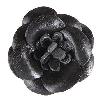 Men's Lapel Flower Handmade Boutonniere for Suit - Leather