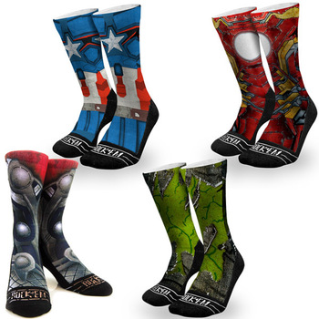 Graphic Rock 'Em Avenger Socks