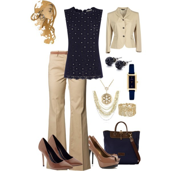 Neutral Navy Office Wear Polyvore Lawyer Suits