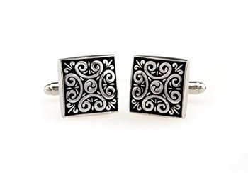 KUPOO antique Buddhist pattern wedding suit shirt cufflinks for Men