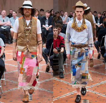 Junya Watanabe 2016 Spring Summer Mens Runway Looks | Denim Jeans Fashion Week Runway Catwalks, Fashion Shows, Season Collections Lookbooks > Fashion Forward Curation