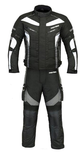 (ST02) Motorbike Suit Textile Cordura CE Armoured