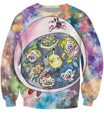 Aliexpress.com : Buy 2015 carton polyester pullover hoodies 3D print Watercolor painting leisure moleton sport loose jogging suits for women and men from Reliable suit racing suppliers on Sunny knitting international Co.,Ltd    Alibaba Group