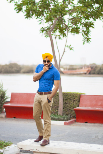 Men's Fashion Sikh Fashion menswear street style mens urban sardar turban Sikh Singh yellow office bl