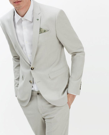 TEXTURED WEAVE SUIT BLAZER - BLAZERS-MAN