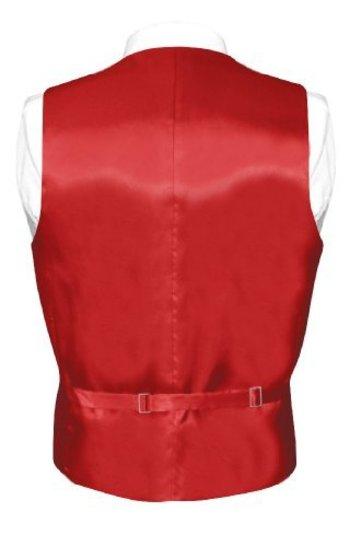 Biagio Men's Solid ROSE RED SILK Dress Vest NeckTie Set for Suit or Tuxedo http://www.yourneckties.co