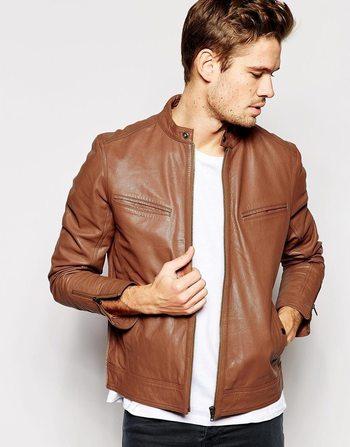 $180, Asos Brand Leather Biker Jacket