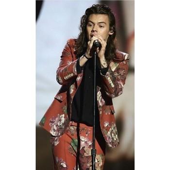 Jacket: suit mens suit pants harry styles one direction floral flowers menswear