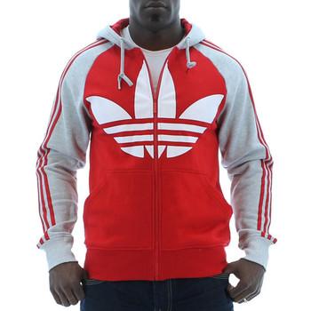 Red Adidas Originals Color Block FZ Men's
