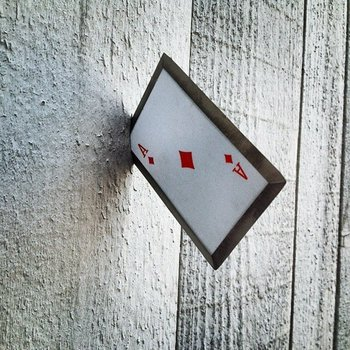 Steel Throwing Poker Cards Hearts