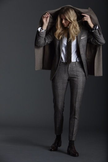 Girl/Boy - menstyle1:Women in Suits.  FOLLOW : Guidomaggi...