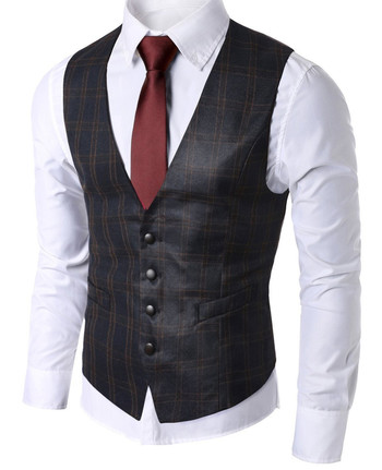 Style Brewing Company - Classic Mens Check Waistcoat Vest