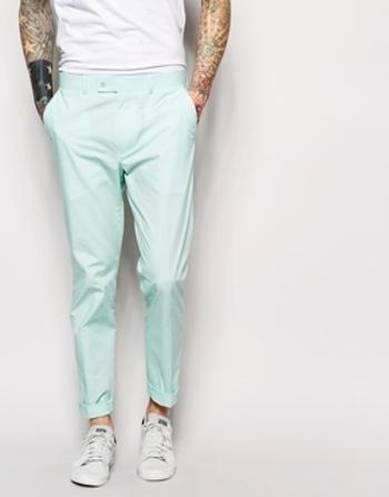 ASOS Slim Fit Suit Trousers In Poplin at asos.com