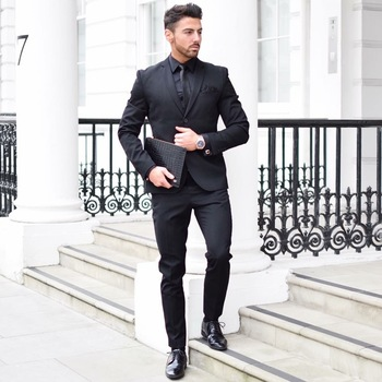 All black suit combo for men brought