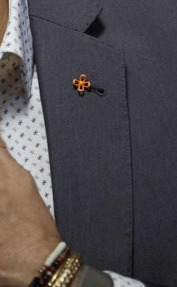 Add a Wurkin Stiffs Lapel Pin to any suit jacket to make you stand out in a crowd of boring suits. #M
