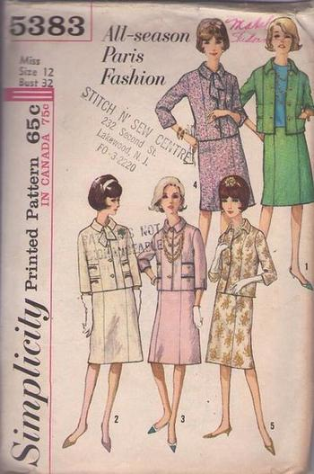 MOMSPatterns Vintage Sewing Patterns - Simplicity 5383