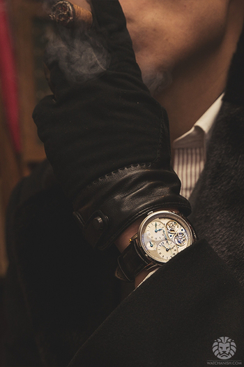 watchanish: Arnold & Son DGB xCigars from Sautter on Mount Street.More of our footage atWatchAnish.