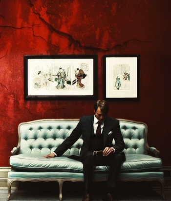 Mads Mikkelsen needs to stop this suit wearing ovary exploding thing. But...not...hnggg. #Hannibal wa