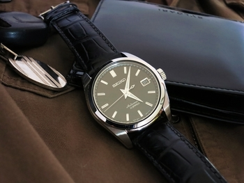 SARB033 Black leather strap. Suggestions?